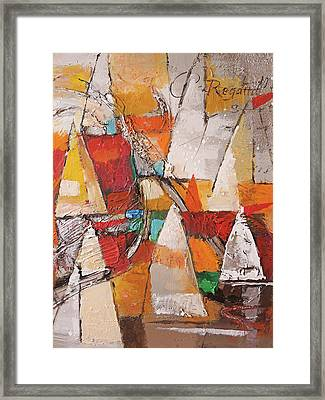 Regatta Pastoso Framed Print