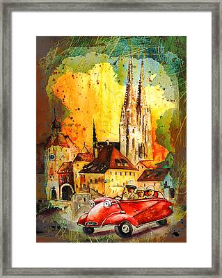 Regensburg Authentic Madness Framed Print by Miki De Goodaboom