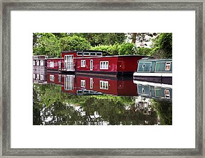 Framed Print featuring the photograph Regent Houseboats by Keith Armstrong
