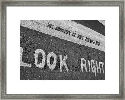 Regent Street Quote Framed Print by JAMART Photography