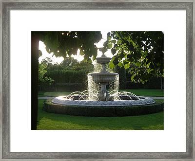 Regents Park Fountain Framed Print