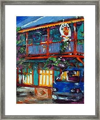 Reggae Cafe Framed Print