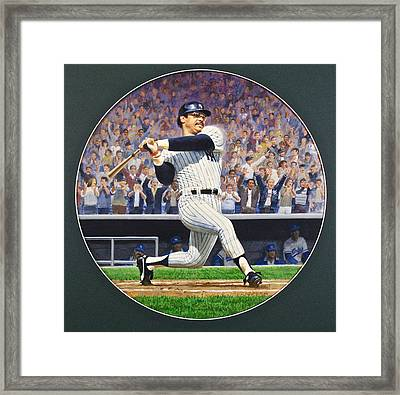 Framed Print featuring the painting Reggie Jackson by Cliff Spohn