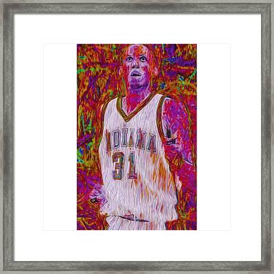 Reggie Miller. Ucla. Indiana Pacers Framed Print