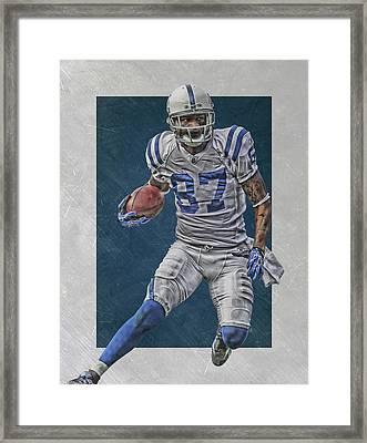 Reggie Wayne Indianapolis Colts Art Framed Print by Joe Hamilton