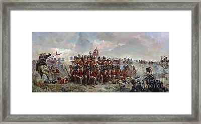 Regiment At Quatre Bras Framed Print by MotionAge Designs