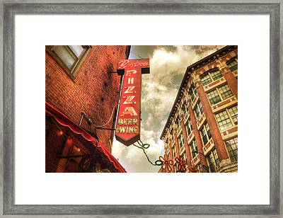 Regina Pizza - Boston North End Framed Print