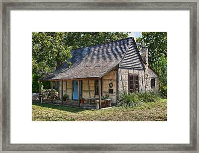 Registered Early Texas Dwelling Framed Print by Linda Phelps