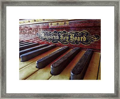 Framed Print featuring the photograph Registered Key Board by Linda Unger