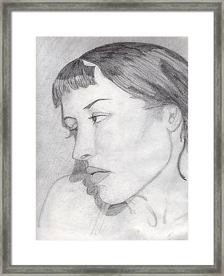 Framed Print featuring the drawing Regret by Jean Haynes