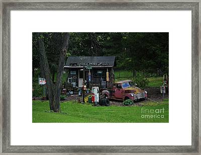 Regular Gas 47 Cents A Gallon Framed Print by Laura Birr Brown