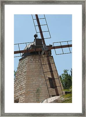 Rehavia Windmill Framed Print by Susan Heller