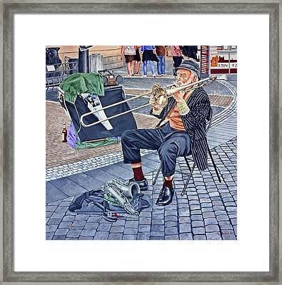 Rehearsal In Prague Framed Print