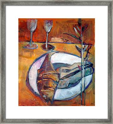 Reheated Framed Print by Dale  Witherow