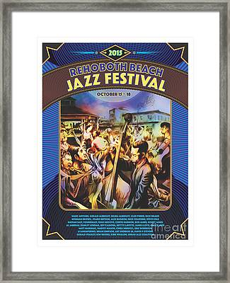 Rehoboth Beach Jazz Fest 2015 Framed Print by Mike Massengale