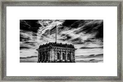 Reichstag At Dusk Framed Print