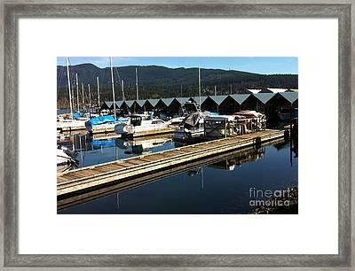 Reid Point Marina 2 Framed Print by Rod Jellison