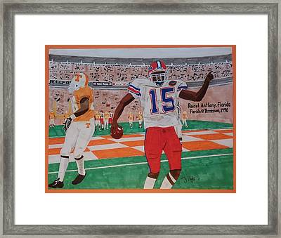 Florida - Tennessee Football Framed Print