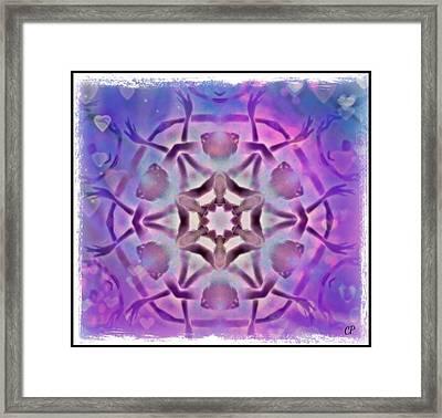 Reiki Infused Healing Hands Mandala Framed Print