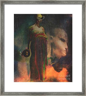 Framed Print featuring the digital art Reincarnation by Alexis Rotella