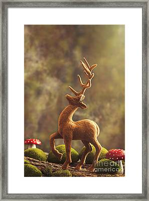 Reindeer Animal Figure Framed Print by Amanda Elwell