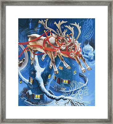 Reindeer Framed Print by English School