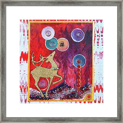 Reindeer Games Framed Print by Donna Blackhall