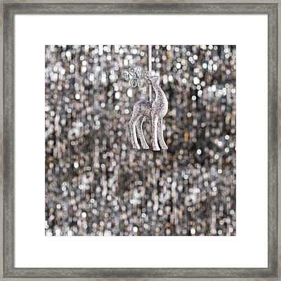 Framed Print featuring the photograph Reindeer  by Ulrich Schade