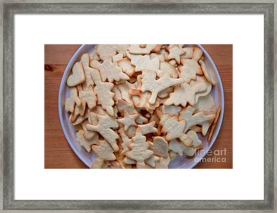 Reindeer With Red Nose Framed Print by Masako Metz