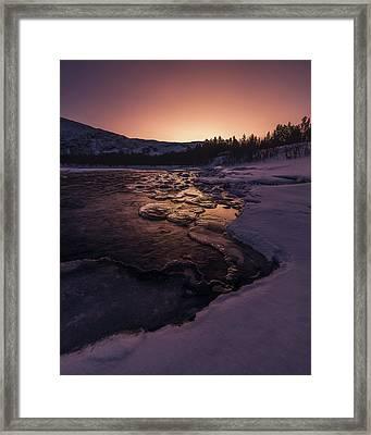 Reisadalen Sunrise Framed Print by Tor-Ivar Naess