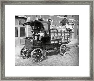 Reisch Brew Company Chain-driven Truck  1906 Framed Print by Daniel Hagerman