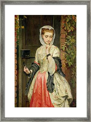 Rejected Addresses Framed Print by Charles Sillem Lidderdale