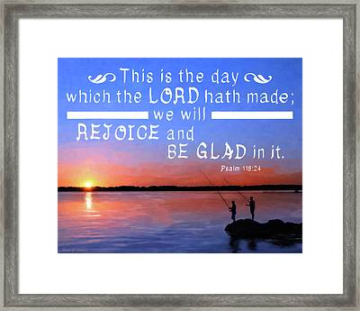 Rejoice And Be Glad Framed Print