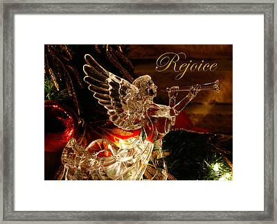 Framed Print featuring the photograph Rejoice Crystal Angel by Denise Beverly