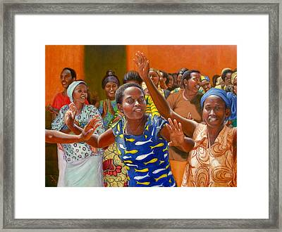 Framed Print featuring the painting Rejoice by Donelli  DiMaria