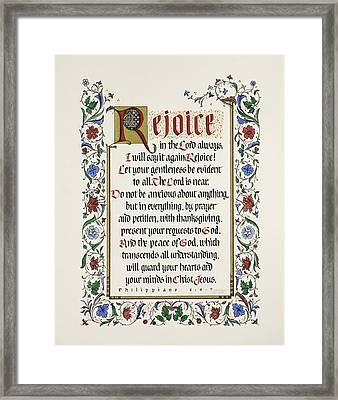 Rejoice II Framed Print by Judy Dodds