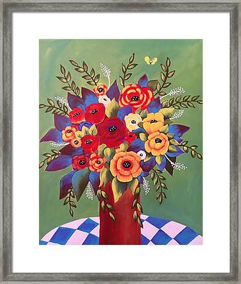Framed Print featuring the painting Rejoice by Jan Oliver-Schultz
