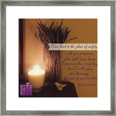 Rejoice, O People Of Zion!  Shout In Framed Print