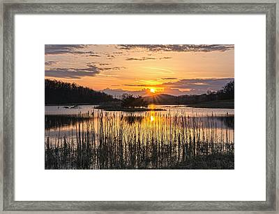 Rejoicing Easter Morning Skies Framed Print by Angelo Marcialis