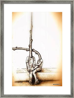 Relationship Framed Print by Paulo Zerbato