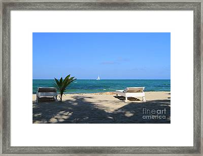 Relax And Enjoy Framed Print