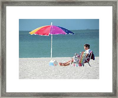 Relax And Read Framed Print