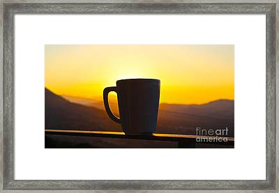 Relax At Sunset Framed Print by David Warrington