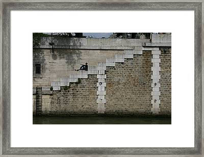 Relax At The River Framed Print by Dennis Curry