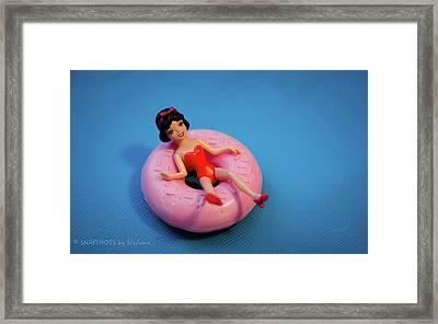 Relax Girl Framed Print by Stefanie Silva
