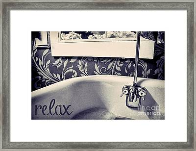 Relax In Blue Framed Print by Mindy Sommers