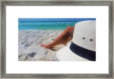 Relax In South Walton Framed Print