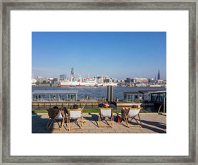 Relax On The Elbe Framed Print