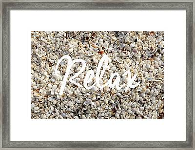 Relax Seashell Background Framed Print