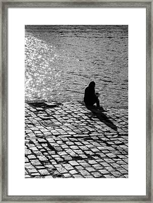 Relax While Reading Framed Print by Andrea Mazzocchetti